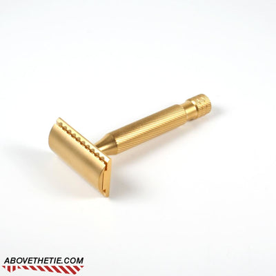 24K Gold Plated Satin Windsor SSR1 - Safety Razor - Above the Tie