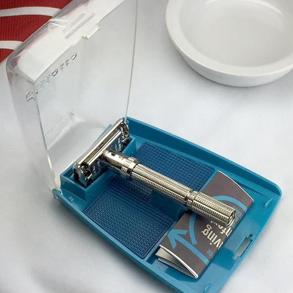 Gillette Slim Adjustable Safety Razor & Case J-4 1964 - Above the Tie