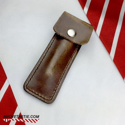 Above The Tie Leather Razor Sleeve - Above the Tie
