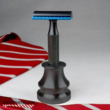 Aluminum Ink Well Razor Stand - Above the Tie