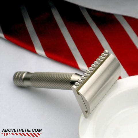 Atlas M2 - Stainless Steel Safety Razor - Above the Tie