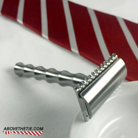 Bamboo S2 Slant Open Comb - Stainless Steel Safety Razor - Above the Tie