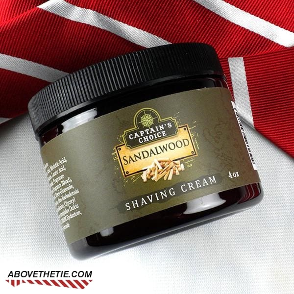 Captain's Choice Sandalwood Shaving Cream - Above the Tie