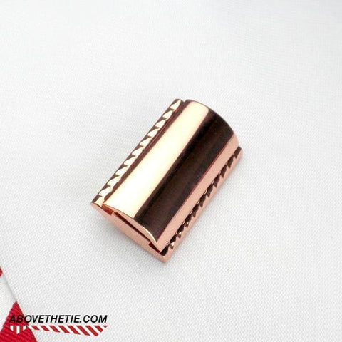 CH1 - Copper Safety Razor Head - Above the Tie