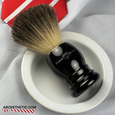 Edwin Jagger Best Black Badger Ebony Shaving Brush - Above the Tie