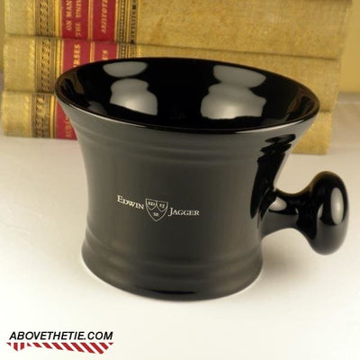 Edwin Jagger Black Porcelain Mug with Knob - Above the Tie