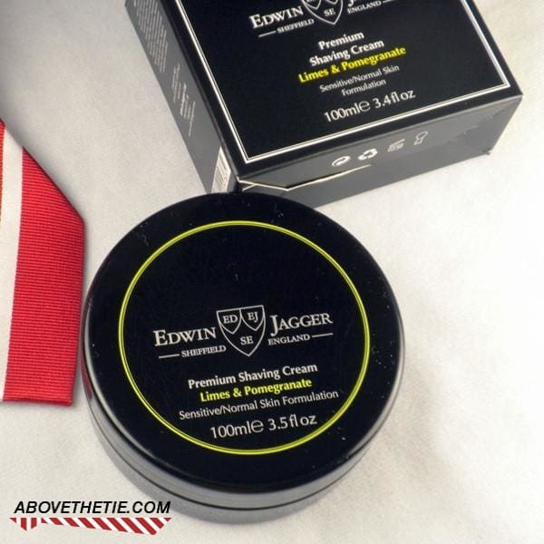 Edwin Jagger Premium Shaving Cream, Limes & Pomegranate 3.4 fl oz - Above the Tie