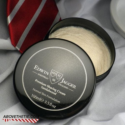 Edwin Jagger Premium Shaving Cream, Sandalwood 3.4 fl oz - Above the Tie