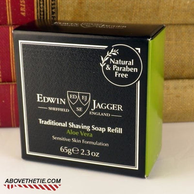 Edwin Jagger Premium Shaving Soap, Aloe Vera Refill 2.3 oz - Above the Tie