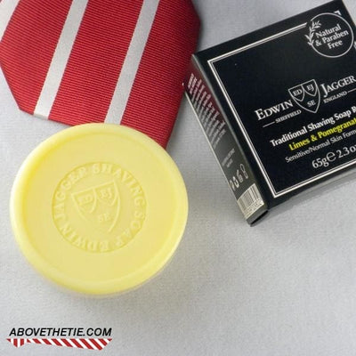 Edwin Jagger Premium Shaving Soap, Limes & Pomegranate Refill 2.3 oz - Above the Tie