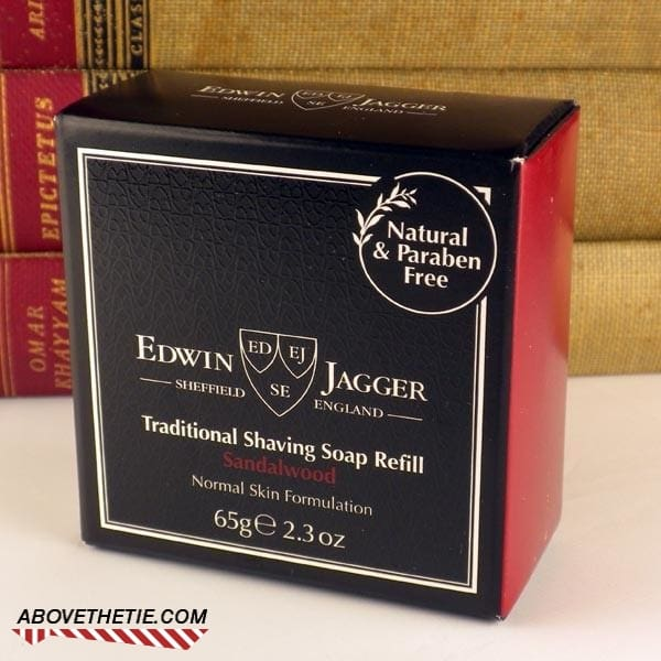 Edwin Jagger Premium Shaving Soap, Sandalwood Refill 2.3 oz - Above the Tie