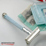 Gillette Blue Lady Safety Razor & Case H-4 1962 - Above the Tie