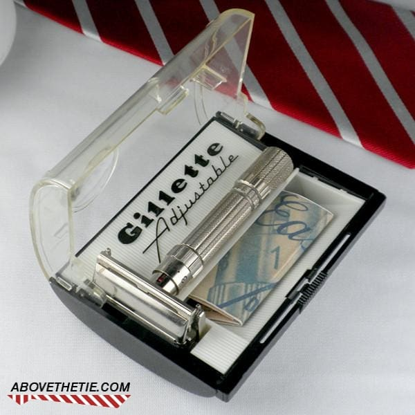 Gillette Fat Boy Safety Razor & Case E-4 1959 - Above the Tie