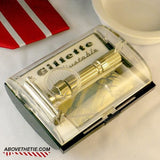 Gillette Fat Boy Safety Razor & Case G-1 1961 - Above the Tie
