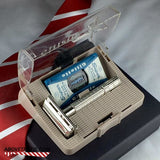 Gillette Flare Tip Safety Razor & Case B-4 1956 - Above the Tie