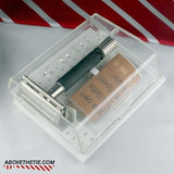 Gillette Flare Tip Safety Razor & Case W-4 1976 - Above the Tie