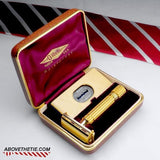 Gillette Gold Aristocrat with Case 1948 - 1950 - Above the Tie