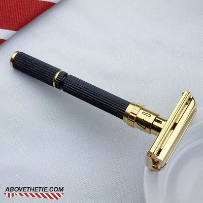 24K Gold Gillette Super Adjustable Long Handle - Above the Tie