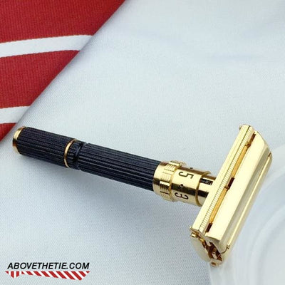 Gold Gillette Super Adjustable Short Handle - Above the Tie