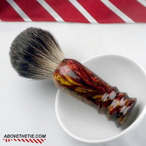 Handmade Black Badger Shaving Brush - Above the Tie