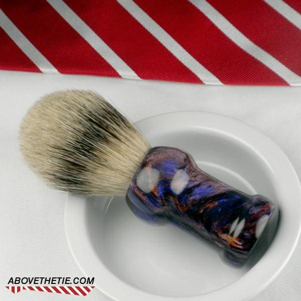Handmade Silver Tip Badger Shaving Brush - Above the Tie