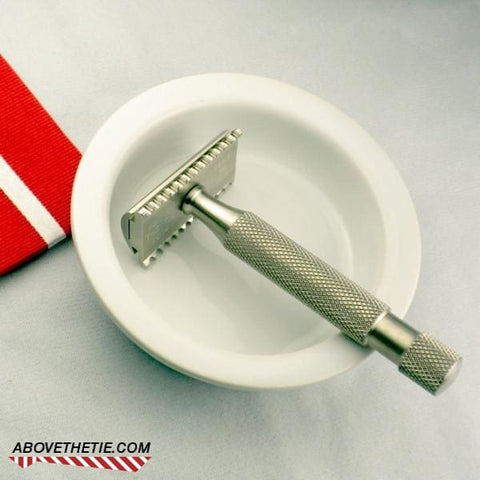 Kronos Slant Open Comb - Stainless Steel Safety Razor - Above the Tie