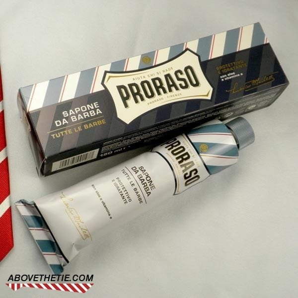 Proraso Shaving Cream in Blue Tube for Sensitive Skin - Above the Tie