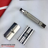 Rhodium Gillette New Long Comb - Above the Tie
