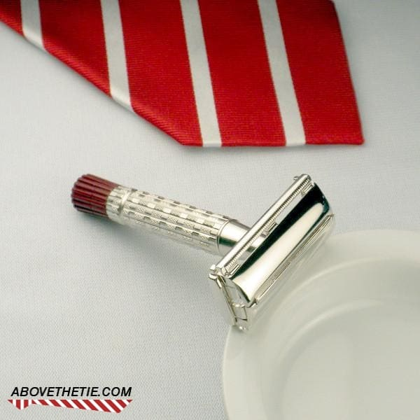 Rhodium Gillette Red Tip - Above the Tie