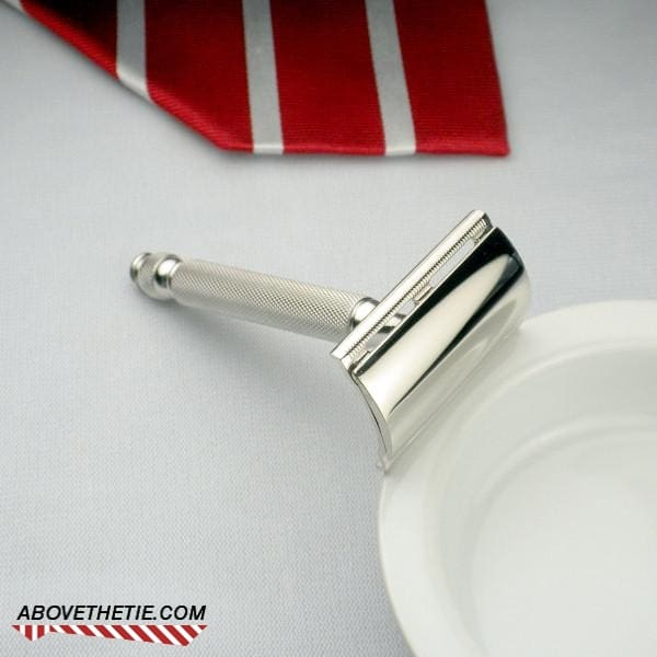 Rhodium Gillette Small Ball Tip - Above the Tie