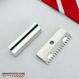 SE2 Single Edge Open Comb - Stainless Steel Safety Razor Head - Above the Tie