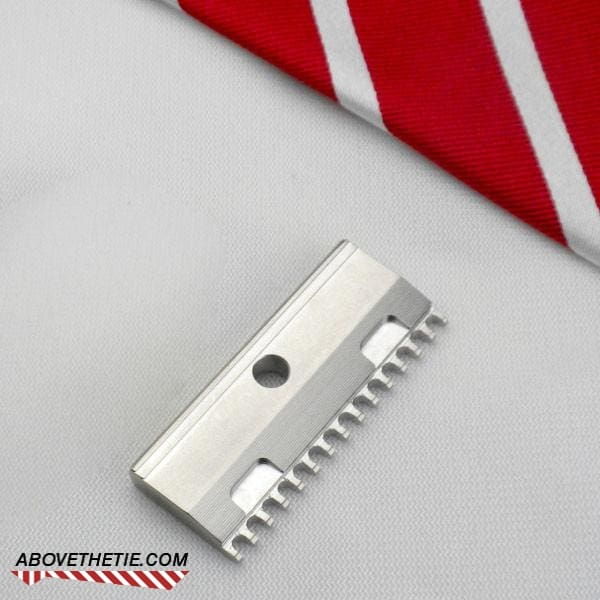 SE2 Single Edge Open Comb - Stainless Steel Safety Razor Base Plate - Above the Tie