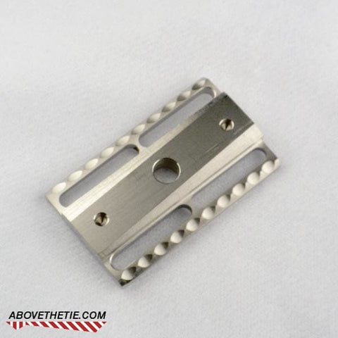 S1 Slant Solid Bar - Stainless Steel Safety Razor Base Plate - Above the Tie
