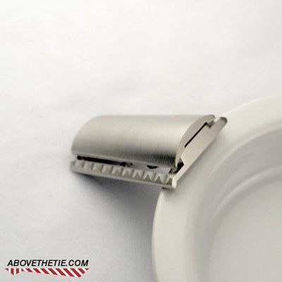 S1 Slant Solid Bar - Stainless Steel Safety Razor Head - Above the Tie