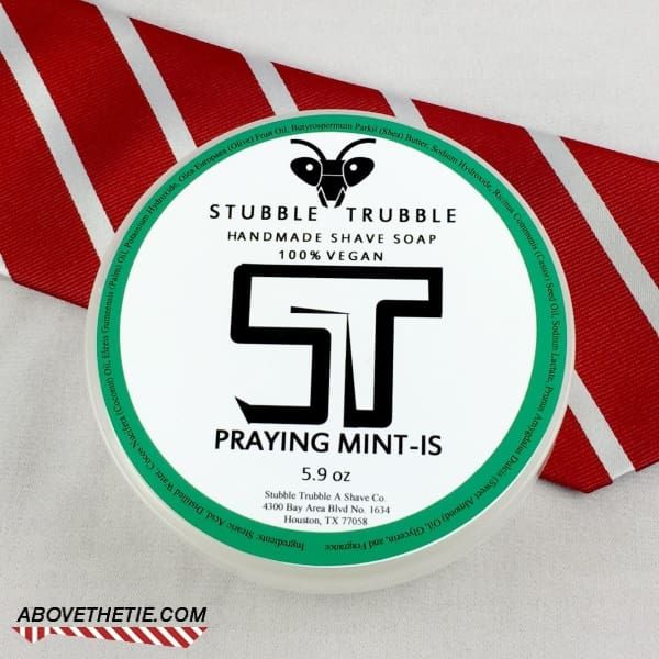 Stubble Trubble Praying Mint-Is Artisan Shave Soap - Above the Tie