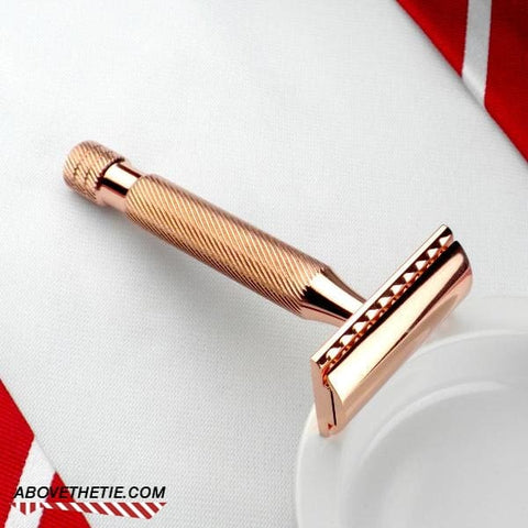 Windsor CM1 - Copper Safety Razor - Above the Tie