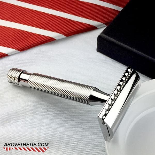 Windsor SSH1 - Polished Stainless Steel Safety Razor - Above the Tie