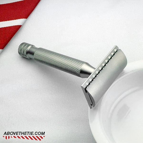 Windsor SSR1 - Satin Stainless Steel Safety Razor - Above the Tie