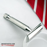 Windsor SSR1 - Polished Stainless Steel Safety Razor - Above the Tie