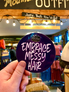 Purple Embrace Messy Hair Decal