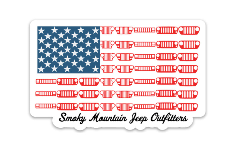 All Jeeps Flag Decal