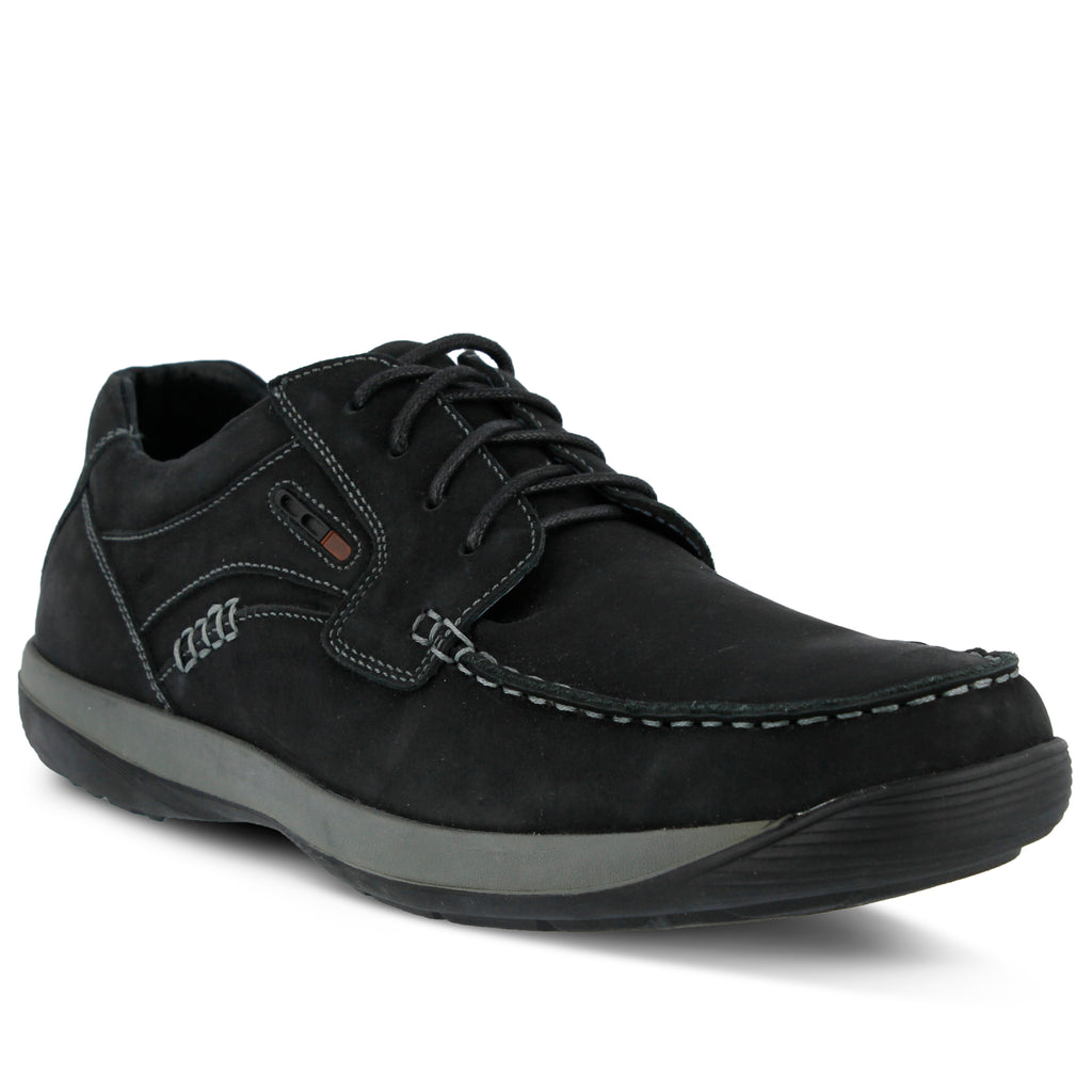 DUNCAN MEN'S LACE-UP SHOE; BLACK ...