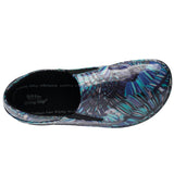 FERRARA BLACK FEATHER MULTI SLIP-ON SHOE