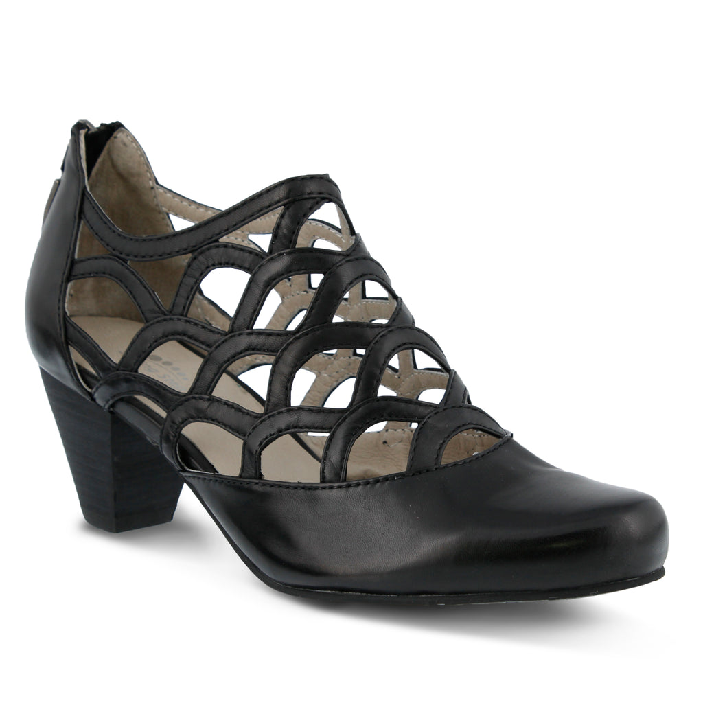 really sale online Spring Step Cutout Leather Heels - Lorca outlet get to buy Z7U01RX