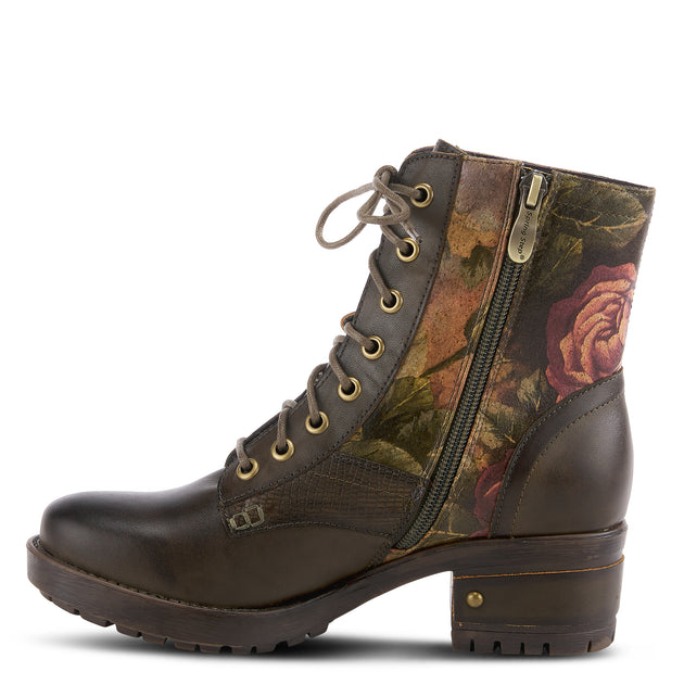 L`Artiste by Spring Step Womens Leather Boots Marty Olive Green EU Size 36