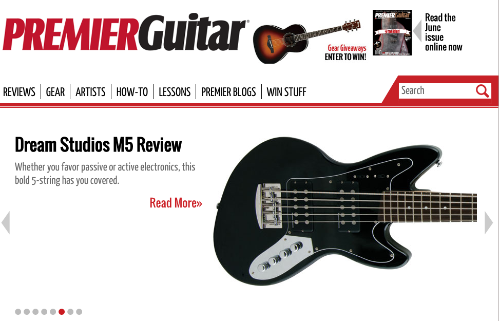 Dream Studios M5 Review in Premier Guitar Magazine