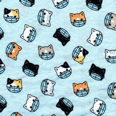 Cats with Mask Fabric Mask Cotton Fabric