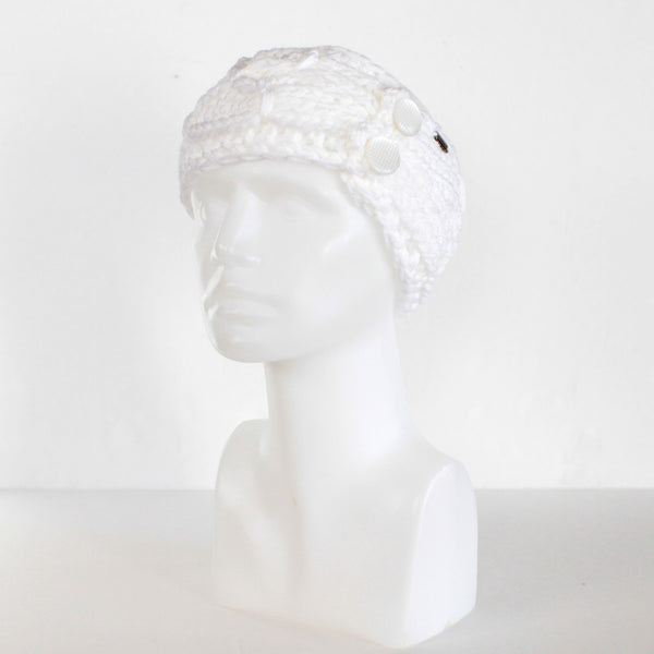 Womens Crisscross Double Button Knit Headband