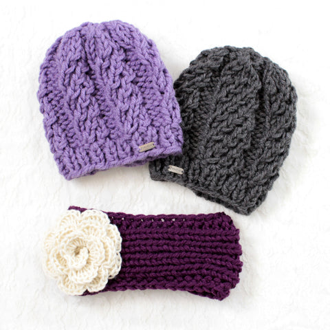 Baby/Toddler Knit Toque & Headband