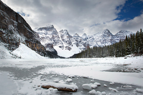 Moraine Lake Winter